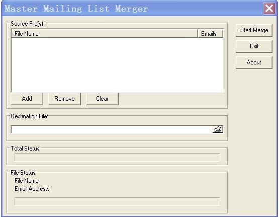 Master Mailing List Merger can merge several