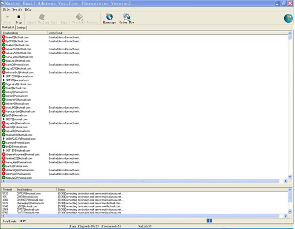 Master Email Address Verifier
